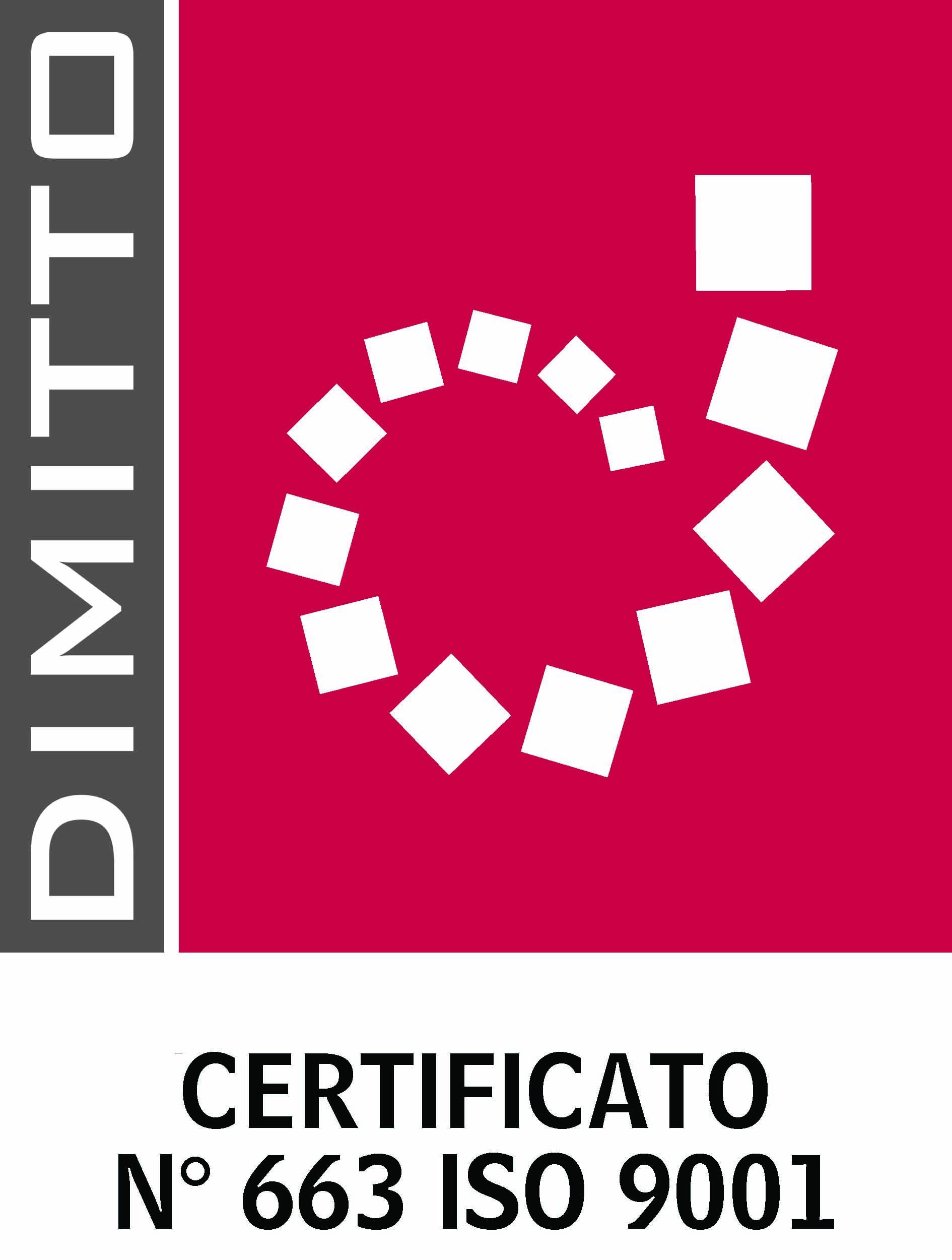 LOGO DIMITTO N 663 ISO 9001 IL COMITATO LINGUISTICO bassa risoluzione