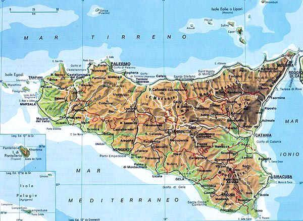 Cartina Sicilia Nord.Da Nord A Sud Attraverso Le Regioni La Sicilia Comitato Linguistico Perugia