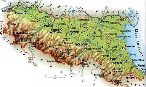 Emilia Romagna Cartina Fisica E Politica.Le Regioni D Italia L Emilia Romagna Comitato Linguistico Perugia