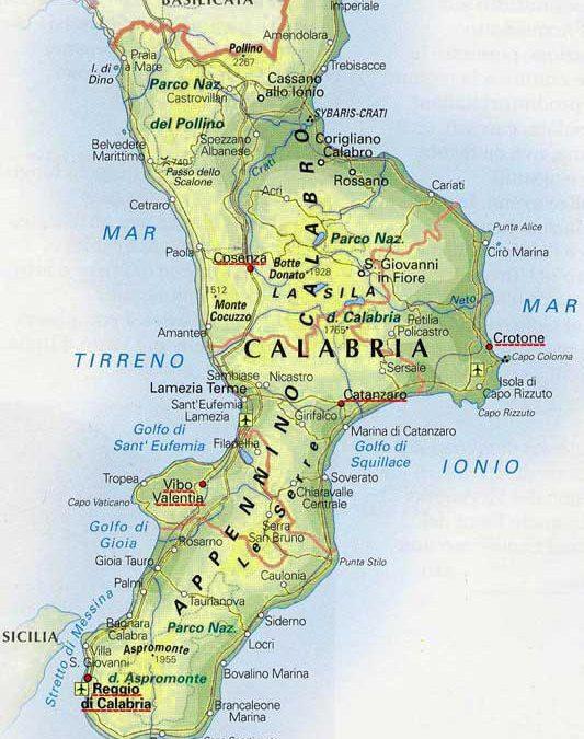 Cartina Calabria Mare.Le Regioni Italiane La Calabria Comitato Linguistico Perugia