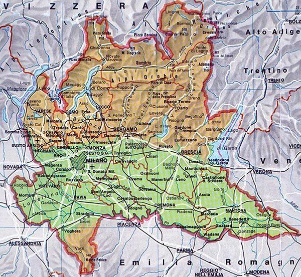 Cartina Lombardia E Piemonte.Le Regioni D Italia La Lombardia Comitato Linguistico Perugia