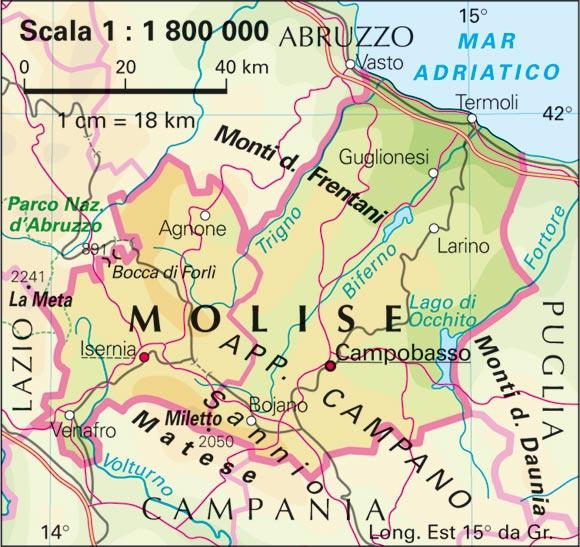 Cartina Politica Del Molise.Le Regioni Italiane Il Molise Comitato Linguistico Perugia