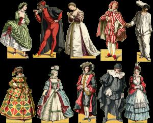 La tradizione del carnevale italiano le maschere della for Maschere di carnevale classiche