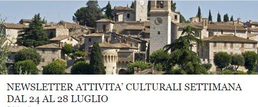 Le attività culturali della settimana dal 24 al 28 luglio!