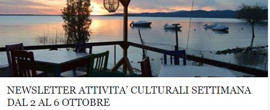 Le attività culturali della settimana dal 2 al 6 ottobre!