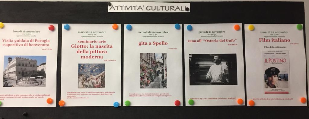 Le attività culturali della settimana dal 18 al 22 novembre 2019!