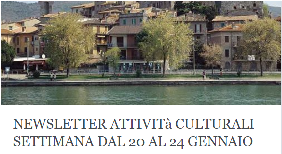 Le attività culturali della settimana dal 20 al 24 gennaio 2020!