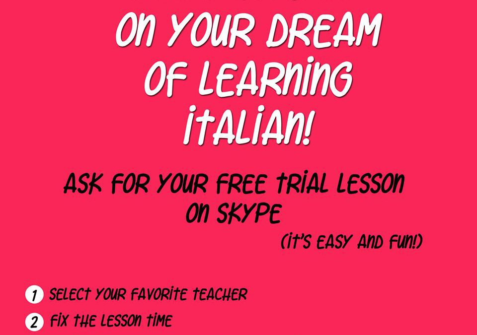 Ask for your free trial lesson on skype!