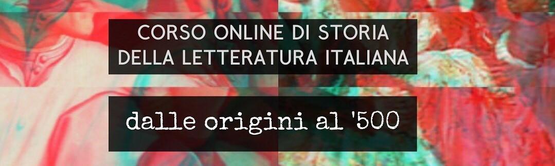 Corso online di Letteratura Italiana